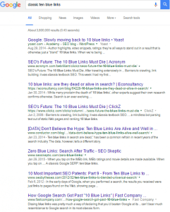 search engine results classic blue links