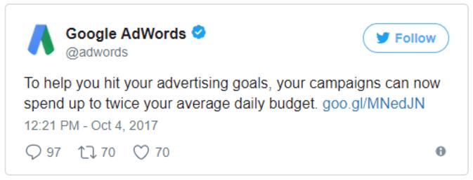 adwords tweet
