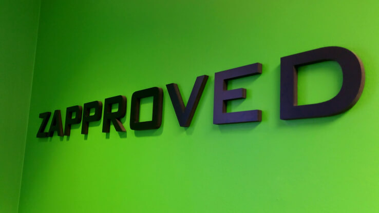 zapproved logo wall
