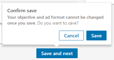 Save campaign button