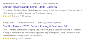Reviews SERP Feature