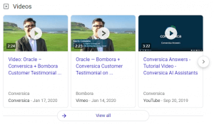 Decision Videos SERP Feature